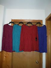 Long Sleeve warmer Blouses Simply Vera Vera Wang size XL Some Color NWT
