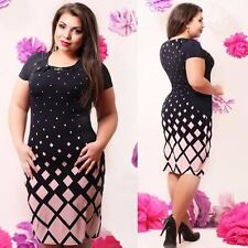 New 2017 Plus Size Womens  Casual  Long Sleeve Bodycon Dress