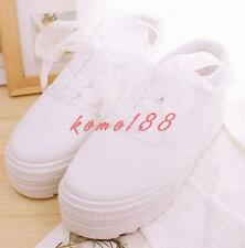 Canvas breath Womens Platform Gilrs Preppy Shoes white Sneakers Casual sneaker