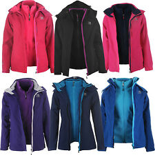 Karrimor Womens 3in1 Jacket Ladies Hooded Fleece Mesh Lining
