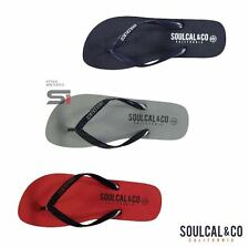New Mens SoulCal Summer Silicone Toe Post Maui Flip Flops Footwear Size 7-12