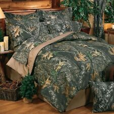 Mossy Oak Break Up Camo Bedding Set + Matching Sheets - Full, Queen or King