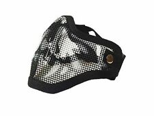 Tactical Ghost Mesh Airsoft Mask Paintball Half Face Protection Strike Style
