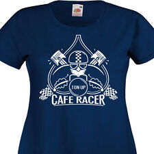 T-shirt femme CAFE RACER  TON-UP - Norton Triumph Triton BSA Ariel Retro Vintage