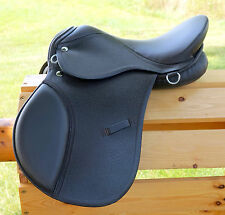 "15"" BROWN All Purpose English EVENT JUMP Saddle /Leathers 36"" /48"" Stirrup Irons"
