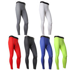 Men Athletic Sports Compression Pants Fitness Training Running Base Layer Tights