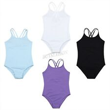 Kid Girls Gymnastics Leotard GYM Unitard Ballet Dance Bodysuit Dancewear Costume