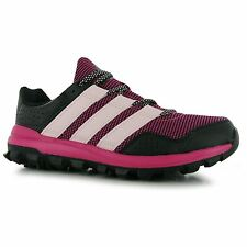 adidas Slingshot Trail Running Shoe Womens Pnk/Blk Trainers Sneakers Sports Shoe