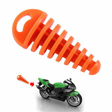 Mini Exhaust Pipe Muffler Orange/yellow Motorcycle Silencer Wash Plug Rubber OE