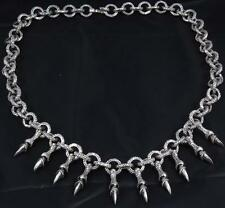 TRIBAL DRAGON CLAWS SNAKE RINGS MENS NECKLACE CHAIN 925 STERLING SILVER 18 20 22