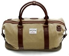Canvas & Faux Leather Weekend Bag Holdall Duffle Sports Gym Hand Luggage Travel