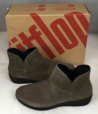 Fitflop Women's Supermod Bungee Cord Gray Suede Ankle Boot 7 7.5 8.5 10 New NIB