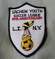 Vintage Sachem Youth Soccer League 10th Anniversary Soccer Patch LI NY New York