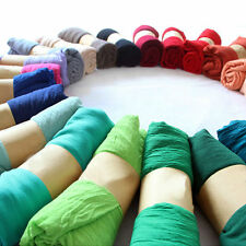 Women Summer Scarf Cotton Long Soft Shawl Sunscreen Stole Wrap Hijab Candy Color