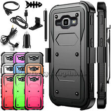 For Samsung Galaxy On5 Shockproof Hybrid Rubber Hard Belt Clip Phone Case Cover