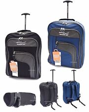 Lightweight Backpack Cabin Hand Luggage Suitcase Wheeled Trolley Travel Case Bag