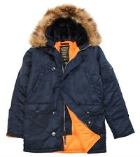 Alpha Industries Men's N-3B Slim-Fit Parka with Removable Hood