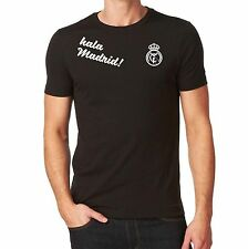 Real Madrid Hala Madrid Tshirt  Black Custom Camiseta Jersey Soccer Futbol Spain
