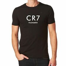 Real Madrid CR7 Ronaldo Tshirt  Black Custom Camiseta Jersey Soccer Futbol Spain
