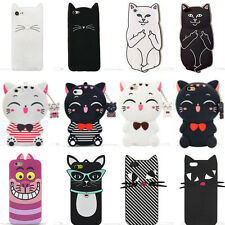 Hot New Cute Cat 3D Cartoon Soft Silicon Case Cover Back Skin For Various Phones