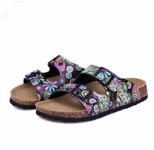 Slip on Slides Printed Flat Plus Size Double Buckle Sandal For Women