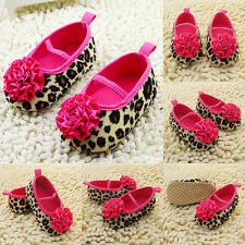 0-18 Months Infant Girl Soft Soled Crib Floral Shoes Leopard Toddler Baby Shoes