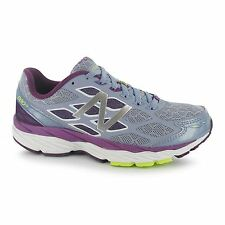 New Balance M880v5 D Wide Fit Running Shoes Womens Purp/Gry Trainers Sneakers