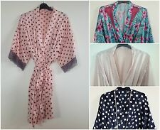 (S2) LADIES SATIN KIMONO DRESSING GOWN/ROBE UK SIZES 8/10-22