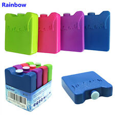 Colorful 4pcs box Cooler lunch Ice Pack Reusable Freezer pack Non-Toxic reusable