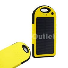 5000mAh solar power bank waterproof charger USB External cell/Tablet Battery