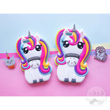 New 3D Cartoon Colorful Unicorn Silicone Rubber Soft  Case Cover For Cell Phones