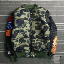 2017 Men's Japan A Bathing Ape Bape Classic Shark Jaw Zipper Cotton Jacket coat