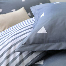 NEW Bedding Set Blue Triangle Duvet Cover Set Twin Full Queen King Bedclothes