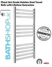 BathShopUK - Electric Designer Stainless Steel Towel Rail Rad - Fully Electric