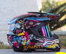 Off Road Dirt Bike Motocross Enduro Racing KTM ATV DOT Motorcycle Helmet +goggle