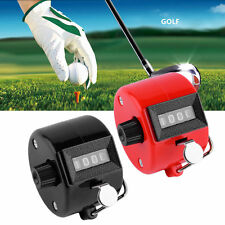 4 Digit Hand Held Tally Counter Manual Clicker Number Counting Golf XP