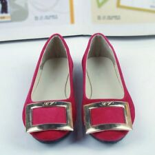 Women Office Summer New Fashion Flats Big Buckle Shoes Size 35-42