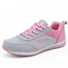 Women Rubber Material Comfortable Lace Up Canvas Breathable Casual Shoes