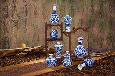 Decoration blue and white porcelain flower vase Classical Chinese arts and craft