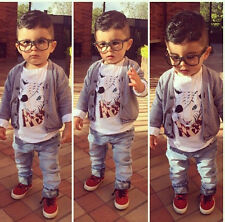 3 pcs Kids Boys Baby New Tops/T-shirt/Pants Trousers Spring Casual Clothes Sets
