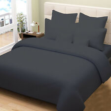 1000TC COMPLETE USA BEDDING SET SOLID DARK GREY 100%COTTON CHOOSE SIZE AND ITEMS