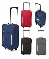 Lightweight Wheeled Hand Luggage Cabin Bag Suitcase Travel Flight Carry On