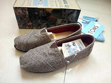 TOMS Womens Cute Classic Gray gold Canvas Tweed