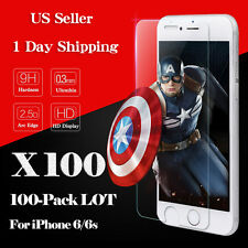 100x Wholesale 9H Tempered Glass Screen Protector Film for Apple iPhone 6 Plus
