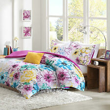 Colorful Beautiful Teal Fusia Floral Girs 5-PC Comforter Set Twin Full/Queen NEW