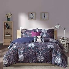Transitional Paisley Purple Bohemian Design Comforter Set Full/Queen Twin