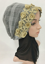 Women Cap Muslim Hijab Islamic Flower Headwear Amira Fashion Head scarf Hot Sale
