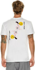 New Swell Men's Buy Or Cry Tee Crew Neck Short Sleeve Cotton Soft White