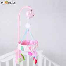 Crib Stroller Toy Crib Mobile Baby Rattle Plush Doll Infant Newborn Gift Musical