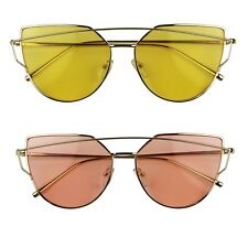Modern Technologic Full Metal Crossbar Aviator Color Tinted Fashion Sunglasses